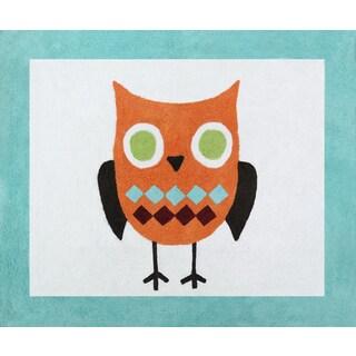 Sweet Jojo Designs Turquoise Hooty Owl Accent Floor Rug - 2'6 x 3'
