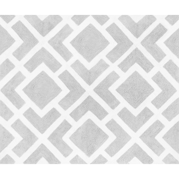 Baby Rug Grey: Shop Sweet Jojo Designs Gray And White Diamond Accent