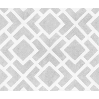 Sweet Jojo Designs Gray and White Diamond Accent Floor Rug
