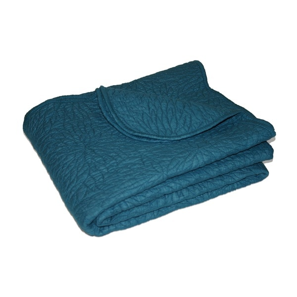 Greenland Home Fashions Serenity Teal Quilted Throw