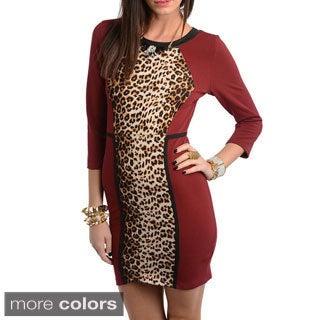 Stanzino Women's Animal Print Bodycon Dress