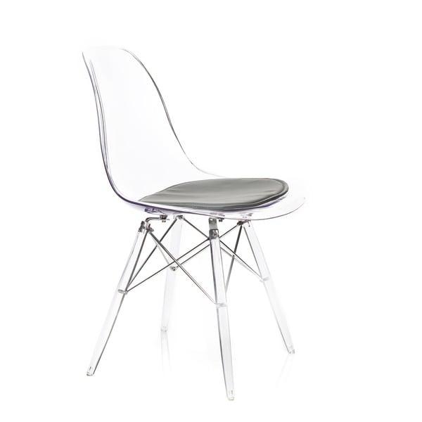 American Atelier Design Guild Living Banks Clear/ Dark Grey Cushion Chair