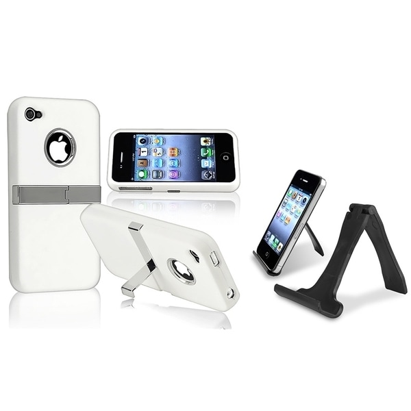 INSTEN Stand/ Phone Case Cover for Apple iPhone 4/ 4S