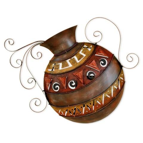 Handmade Iron 'Mexican Water Jar' Wall Lamp , Handmade in Mexico