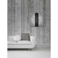 Black Stripe Modern Metal Wall Clock
