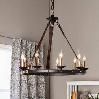 Rustic Chandeliers: Cavalier 9-light Black Chandelier,Lighting