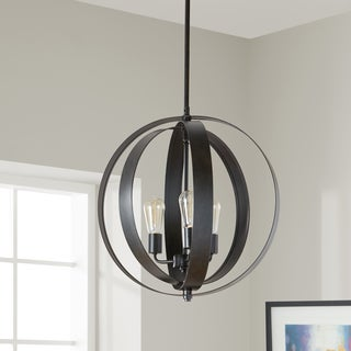 Cassidy Antiqued Black 3-light Orb Chandelier