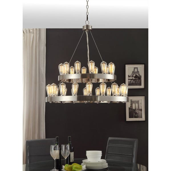 Griffin 30-light Nickel-finished Chandelier. Opens flyout.