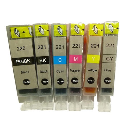 Compatible Canon PGI-220 CLI-221 Canon PIXMA iP3600 iP4600 iP4700 Compatible Ink Cartridge Set of 6