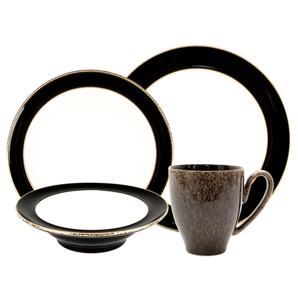 Denby Praline Noir 4-piece Place Setting  sc 1 st  Overstock.com & Denby Praline Noir 4-piece Place Setting - Free Shipping Today ...