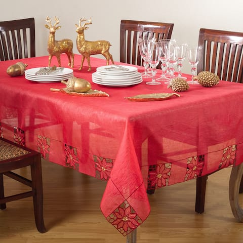 Embroidered and Cutwork Design Tablecloth
