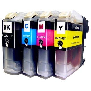 Brother LC105\ LC107 Compatible 4-piece Ink Cartridge Set