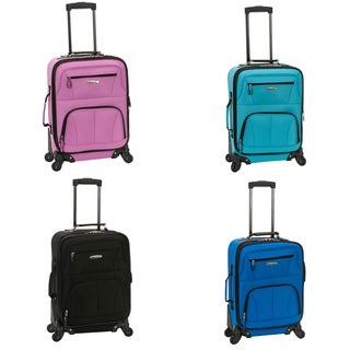 Rockland Deluxe 20-inch Expandable Carry-On Spinner Upright Luggage