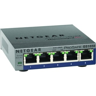 Netgear ProSafe Plus Switch, 5-Port Gigabit Ethernet