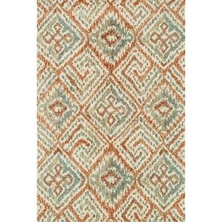 Microfiber Woven Beckett Spice/ Mist Area Rug (5'0 x 7'6)