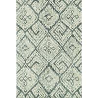 Microfiber Woven Beckett Teal Area Rug - 7'6 x 9'6