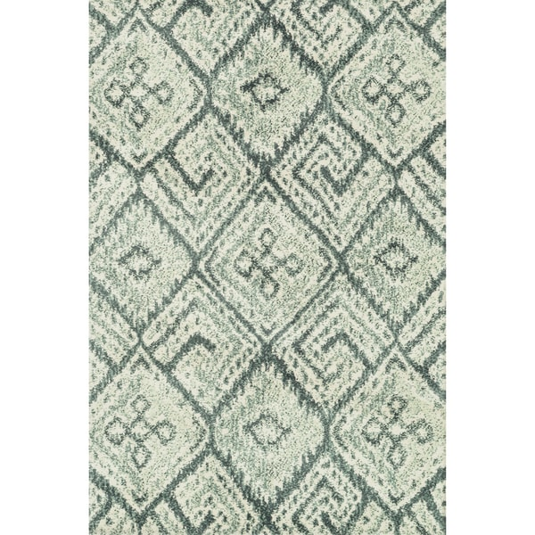 Microfiber Woven Beckett Teal/ Multi Rug - 5' x 7'6