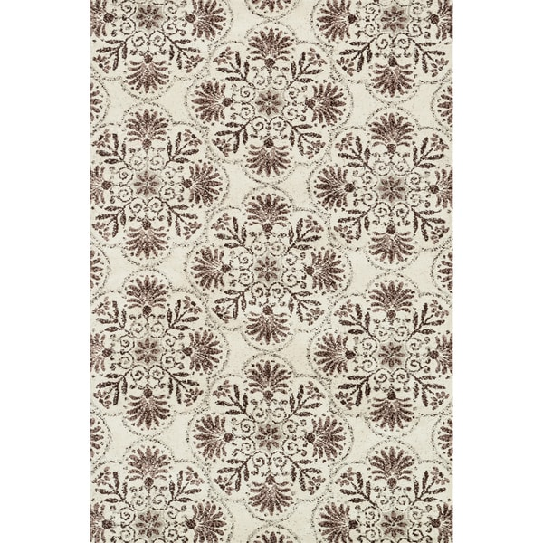 Microfiber Woven Beckett Brown/Grey Rug - 7'6 x 9'6