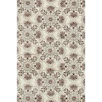 Microfiber Woven Beckett Brown/Grey Rug - 7'6 x 9'6