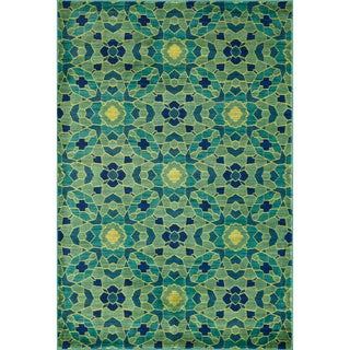 Skye Monet Green/ Multi Rug (5'2 x 7'7)