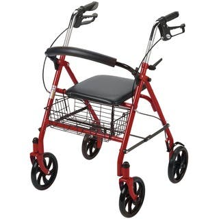 Drive Medical 4-wheel Walker Rollator with Fold-up Removable Back Support|https://ak1.ostkcdn.com/images/products/8663907/P15922095.jpg?impolicy=medium
