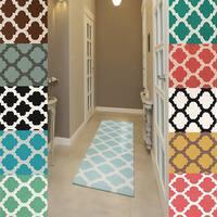 Hand-woven Samick Moroccan Trellis Flatweave Wool Runner Area Rug - 2'6 x 8'