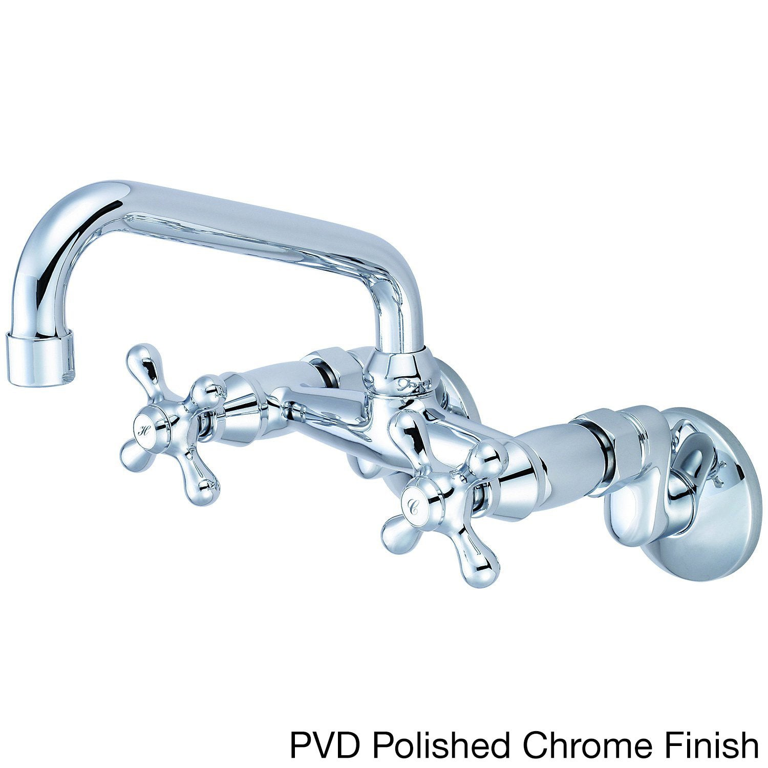 Picture of: Shop Pioneer Premiumi Series 2pm540 Double Handle Wall Mount Kitchen Faucet Free Shipping Today Overstock 8663996 Pvd Polished Chrome Finish