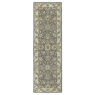 Hand-tufted Joaquin Grey Agra Wool Rug (2'6 x 8')