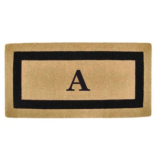 Heavy Duty Coir Picture Frame Large Monogrammed Doormat (36 in. x 72 in.)