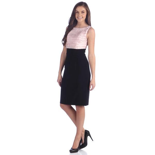 Shop London Times Women S Shutter Bodice 2 Fer Dress