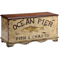 Portola Bay 'Ocean Pier' Design Storage Chest