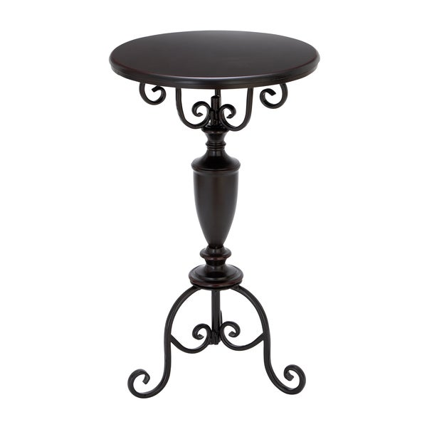 Black Metal Accent Table Free Shipping Today Overstock