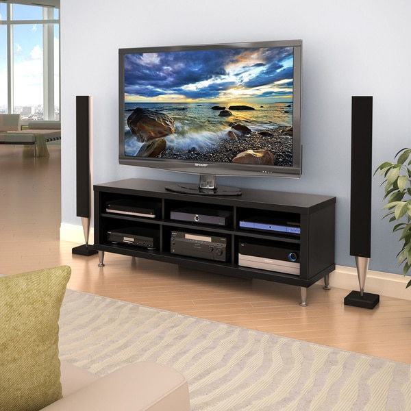 Valhalla broadway black 55 inch tv stand free shipping for Living room with 65 inch tv