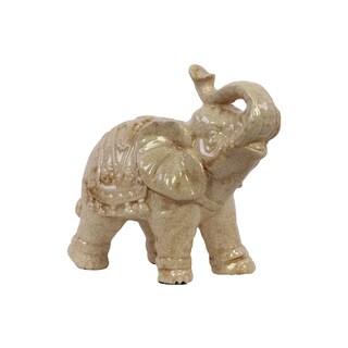 White Ceramic Elephant