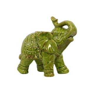 Green Ceramic Elephant