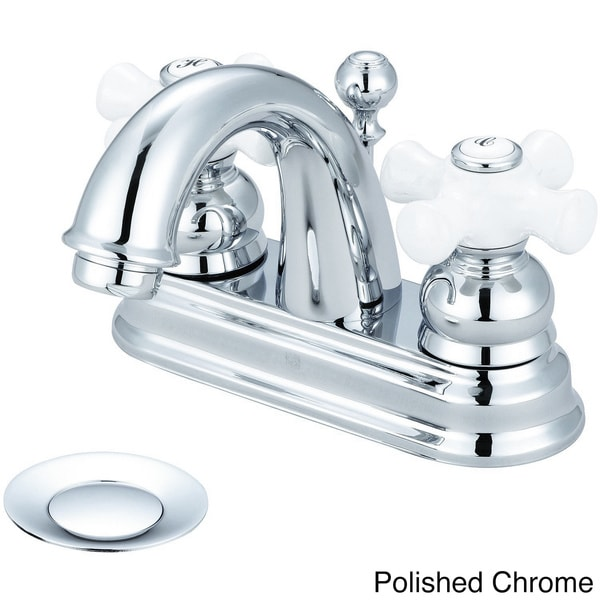 Shop Pioneer Brentwood Series 3br220 Double Handle Porcelain Cross Bathroom Faucet Free
