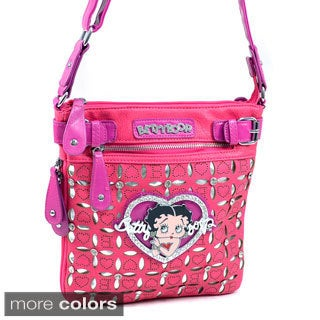 Betty Boop Rhinestone Cut-out Crossbody Bag