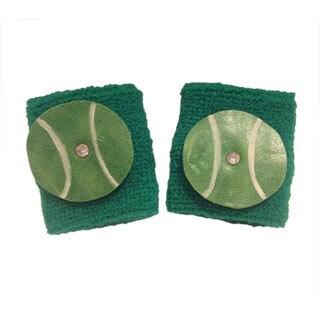 Leather Tennis Ball Wristband