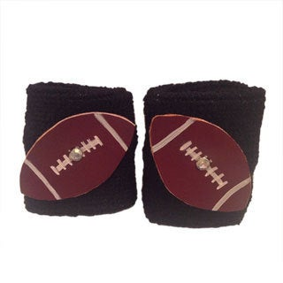 Leather Football Wristband