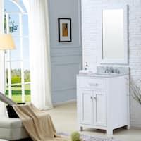Water Creation Madison 24-inch Solid White Single Sink Bathroom Vanity