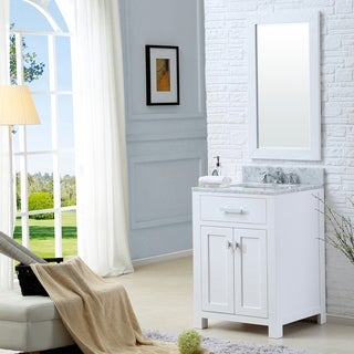 Water Creation Madison 24-inch Solid White Single Sink Bathroom Vanity