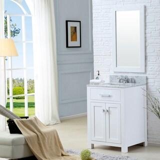 Link to Water Creation Madison 24-inch Solid White Single Sink Bathroom Vanity Similar Items in Bathroom Vanities