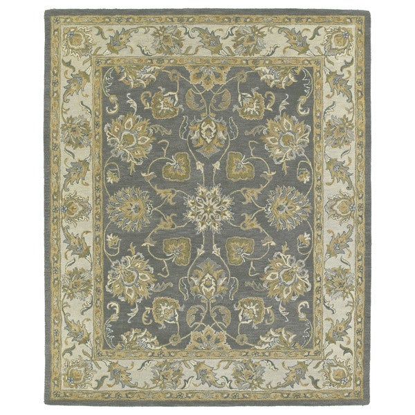 Hand-tufted Joaquin Grey Agra Wool Rug (10' x 14')