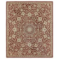 Hand-tufted Joaquin Red Medallion Wool Rug (8' x 10')