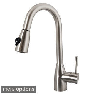 Virtu USA Neptune PSK-1001 Single Handle Kitchen Faucet in Brush Nickel or Polish Chrome