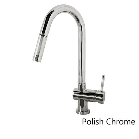 PSK-1002 Single Handle Kitchen Faucet in Brush Nickel or Polish Chrome