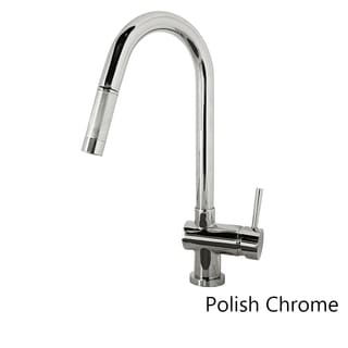 Virtu USA Huya PSK-1002 Single Handle Kitchen Faucet in Brush Nickel or Polish Chrome