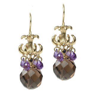 Michael Valitutti/ Kristen Gold over Silver Multi-gemstone Earrings