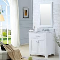 Water Creation Madison 30-inch Solid White Single Sink Bathroom Vanity