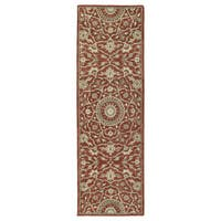 Hand-tufted Joaquin Red Medallion Wool Rug - 2'6 x 8'